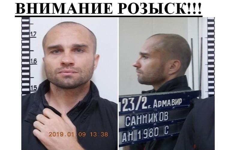 Ориентировка на беглого Антона Санникова
