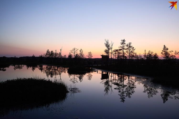 Закат на Ельне.