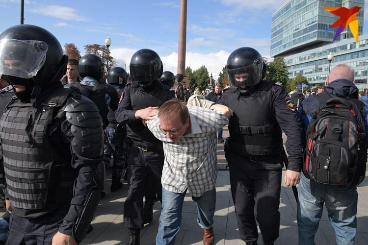 """Если митингующий оказывал сопротивление, его """"вязали""""."""