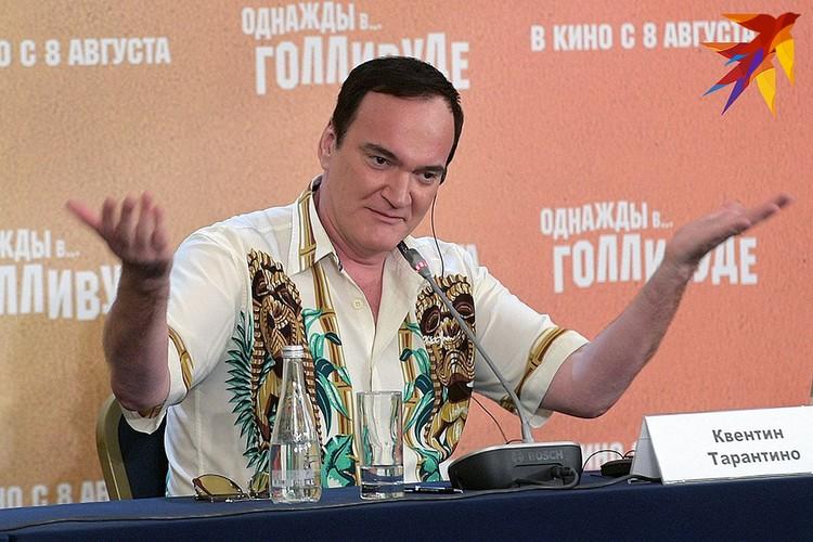 Квентин Тарантино на пресс-конференции в Москве