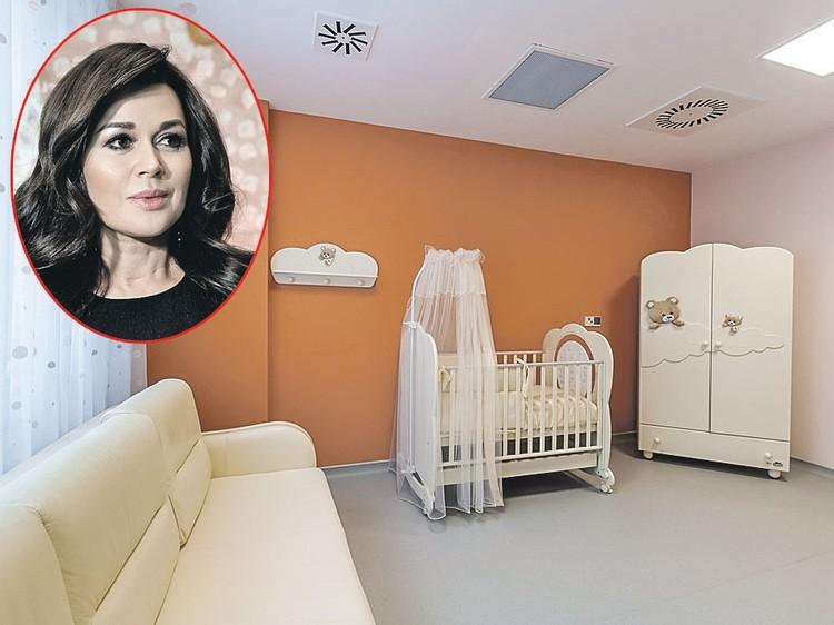 Анастасия Заворотнюк выбрала для себя похожую палату. Фото: mamadeti.ru, Борис КУДРЯВОВ/Экспресс газета
