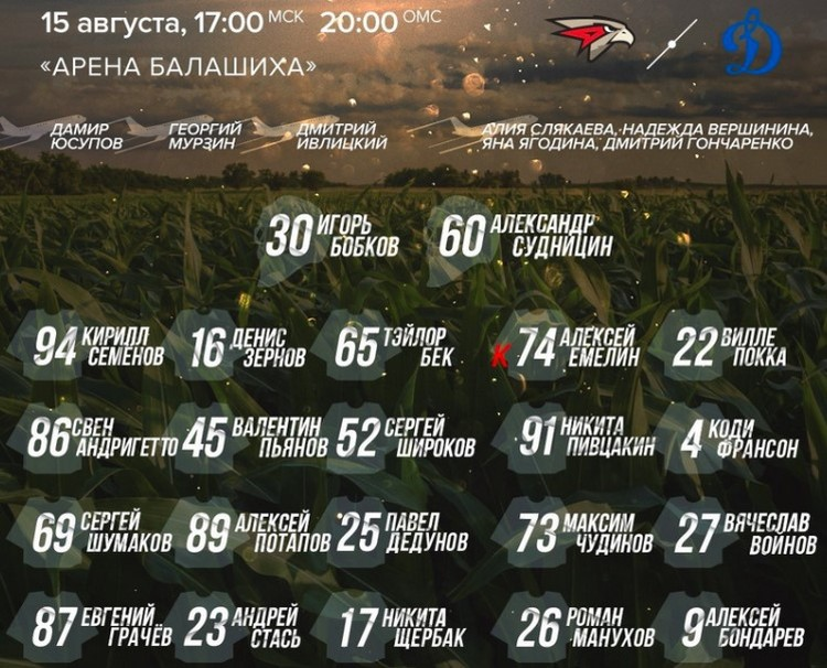 Экипаж самолета А321 попал в заявку хоккейного «Авангарда» на матч с «Динамо».