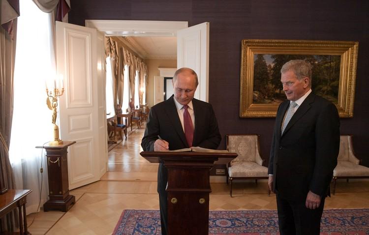 Путин и Ниинисте поговорили во дворце Николая I