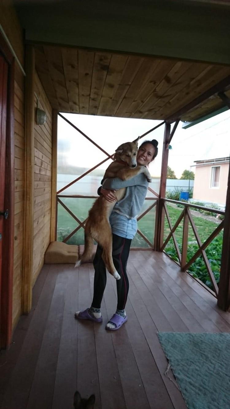 Лаки на даче - с новой семьей. Фото: Геннадий БЕЛОВ.