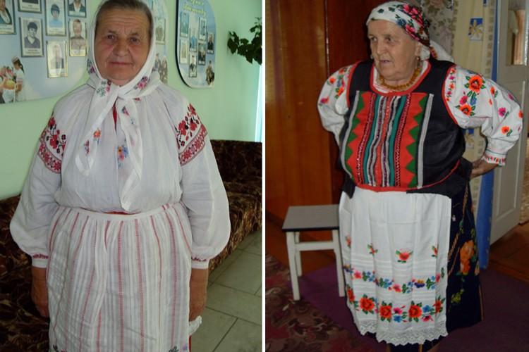 Сегодня даже в деревнях непросто найти полный традиционный костюм. Но порой, как в Скибичах Дрогичинского района (слева) и Дуброве Лельчицкого района, находят артефакты. Фото: Татьяна КУХАРОНАК