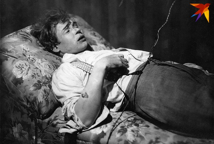 Посмертный портрет Сергея Есенина.