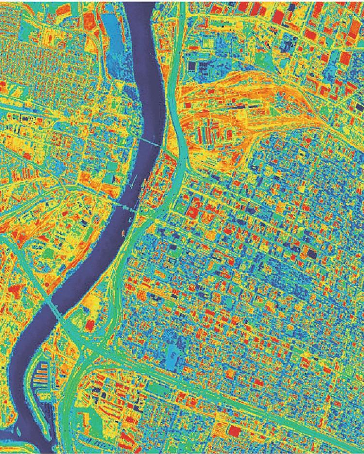 Чем интенсивнее и ярче цвет на карте - тем больше потери тепла в атмосферу. Представляете, как мы нагреваем воздух? Фото: NASA.gov