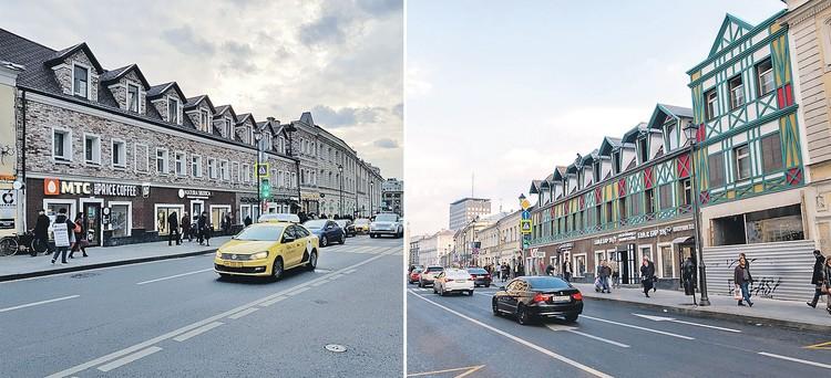 Немецкий стиль москвичам не понравился. И дом на Маросейке переделали. Теперь он такой (фото слева). Фото: Алиса ТИТКО, fondvnimanie.ru