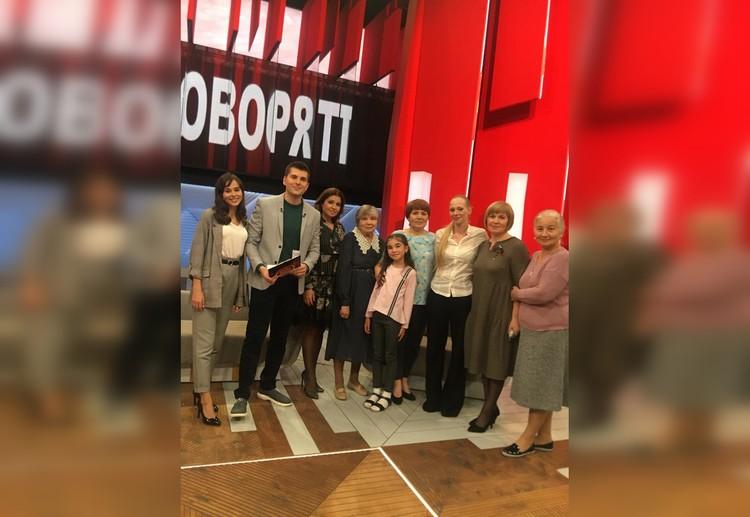 На программе с дочерью Нины Руслановой Олесей Рудаковой. Фото из семейного архива