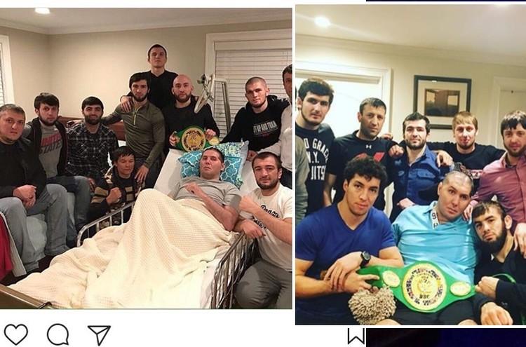 Навещают и друзья из Дагестана