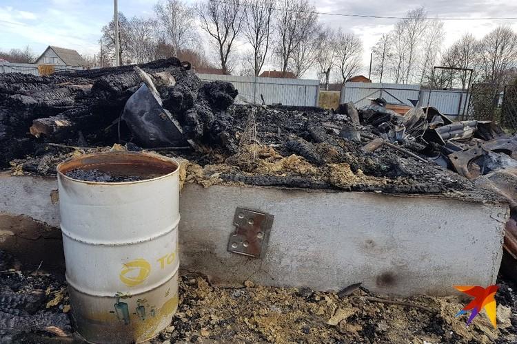 Дом полностью уничтожен огнем