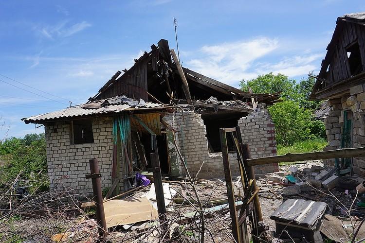 Один из домов в поселке Гагарина.