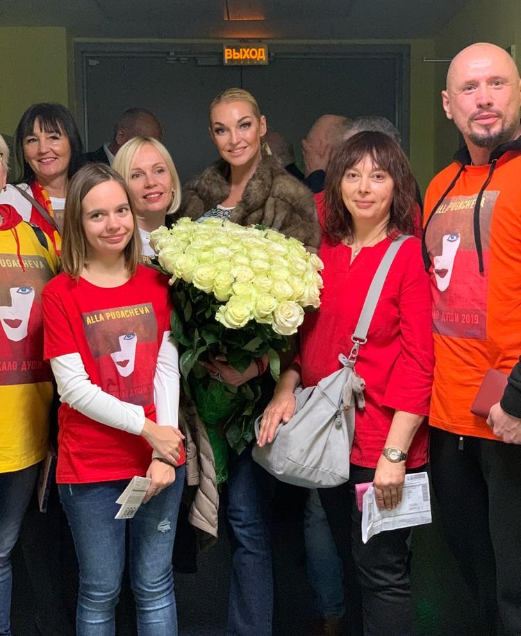 Волочкова специально приехала в Минск на концерт Аллы Борисовны