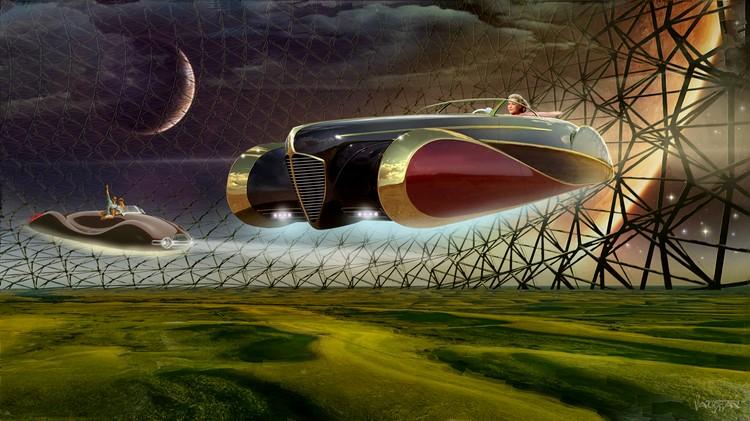 Летающие машины в Асгардии. Фото: Джеймс Вон/Министерство информации и коммуникаций Асградии.