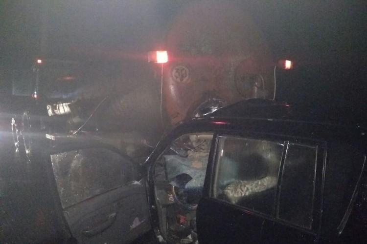 На фото видно, что габаритные огни у трактора были исправны. Фото: ГАИ Витебск.