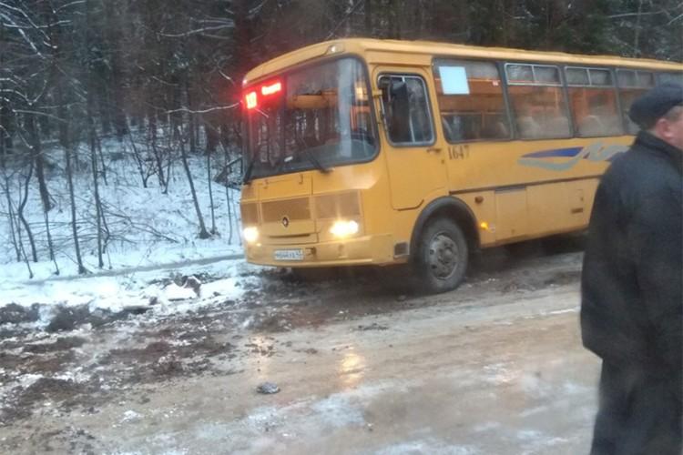 В Сидоровке автобус съехал в кювет. Фото: vk.com/zlo43