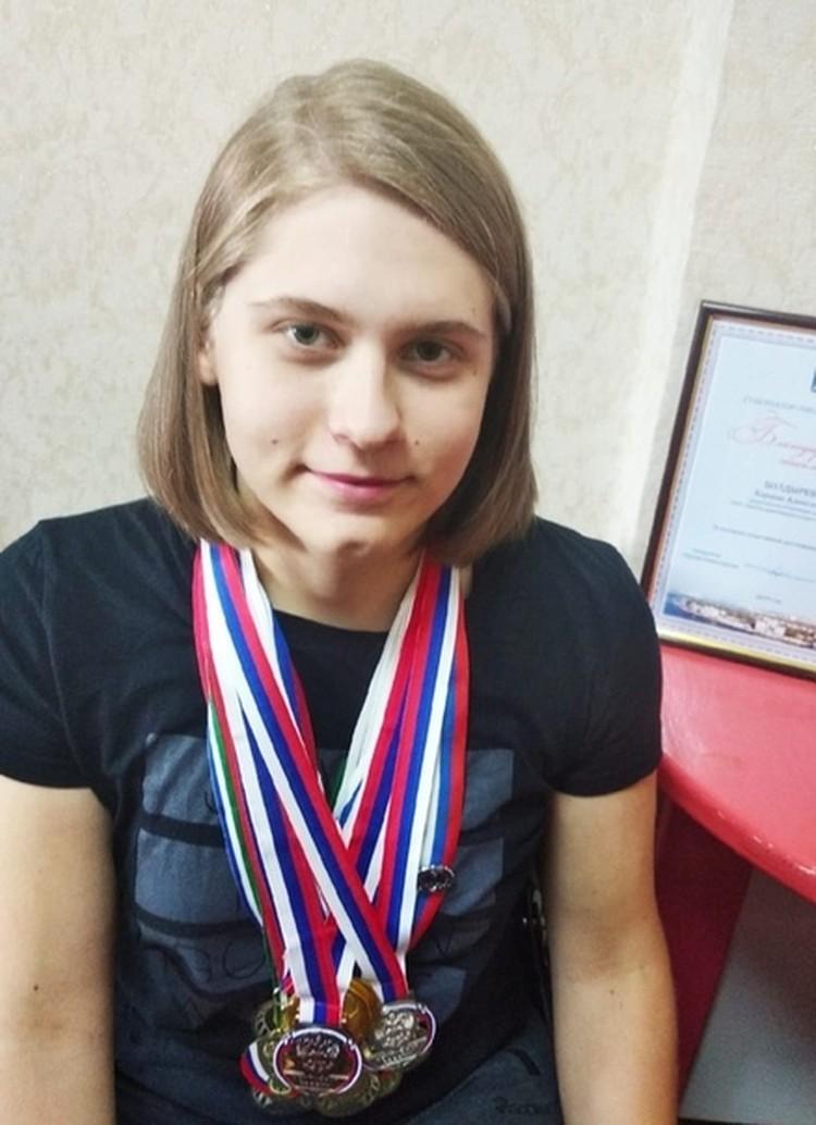 Девушка добилась успехов в спорте. Фото: личный архив