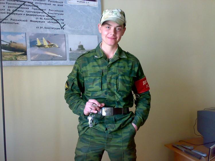 Андрей в армии. Фото из архива героя
