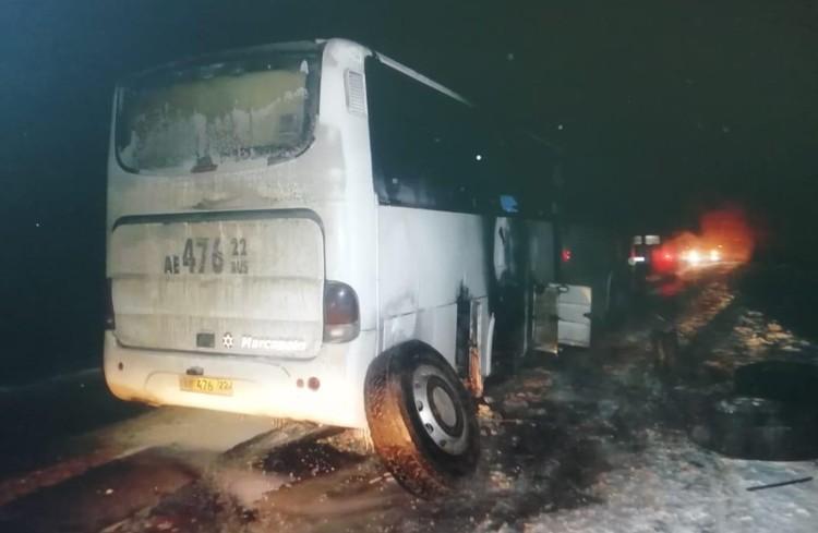 Возгорание автобуса на Алтае