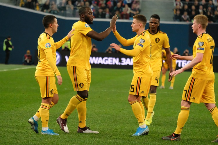 Сборная Бельгии одержала победу со счетом 4:1