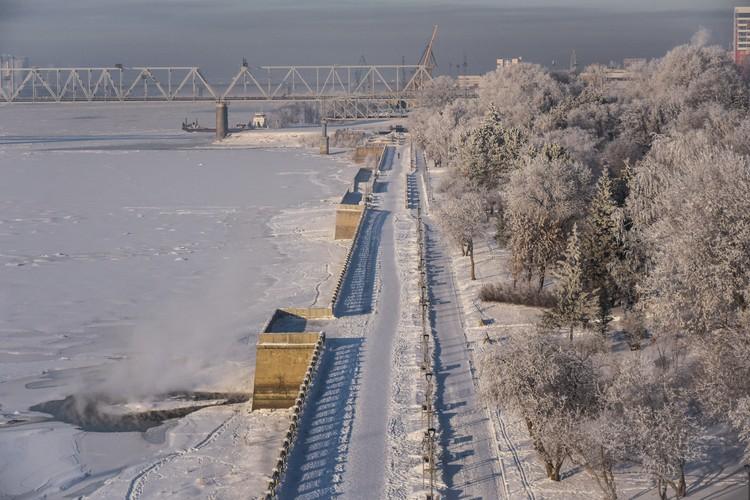 Михайловская набережная превратилась в настоящую зимнюю сказку!