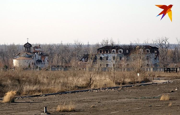 Монастырь недалеко от донецкого аэропорта был разрушен во время войны