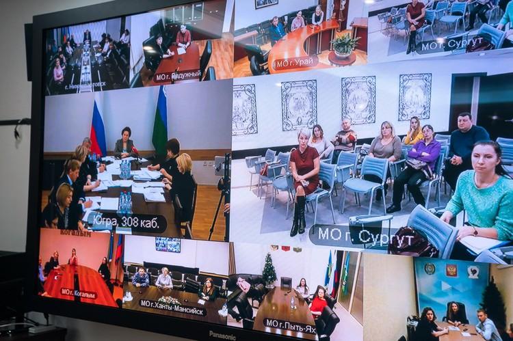 Те, кто уже получил поддержку, во время видеоконференцсвязи не постеснялись поблагодарить власти округа за нее. Фото admhmao.ru