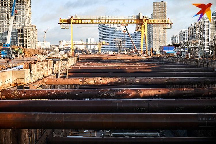 Строительство станции Аэродромная.