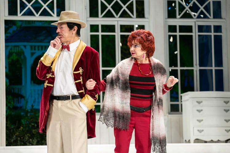 Михаил Боярский в новом спектакле играет со своей женой Фото: Академический Театр имени Ленсовета