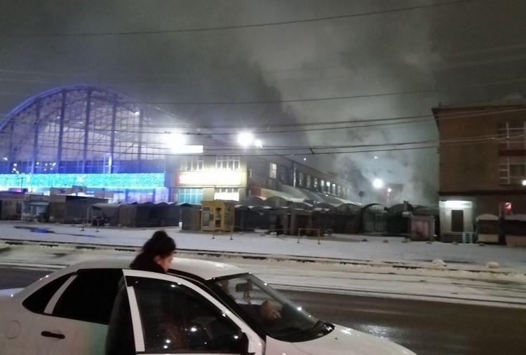 Склад около Сенного сгорел на 110 кв. м. Фото из соцсетей