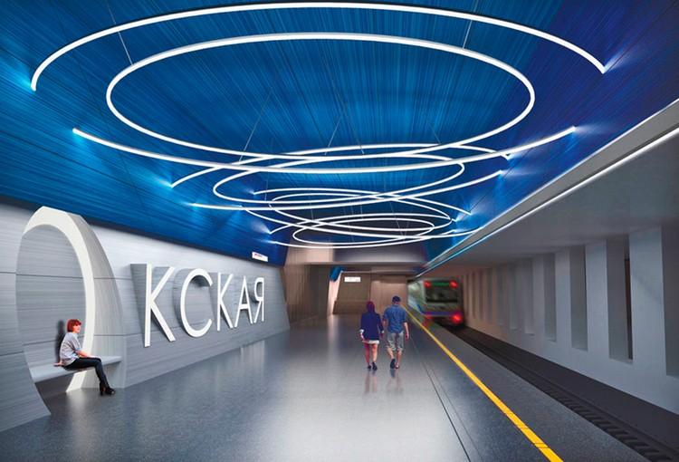 Основной образ, заложенный в интерьере станции, – круги на воде Подробнее: https://stroi.mos.ru/metro/station/33?from=cl