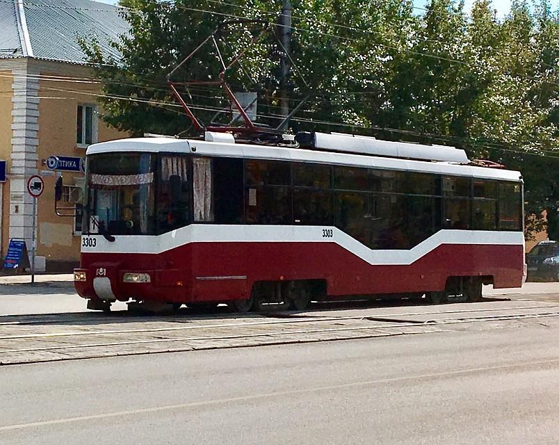Трамвай белорусского производства. Фото: Барнаульский электротранспорт
