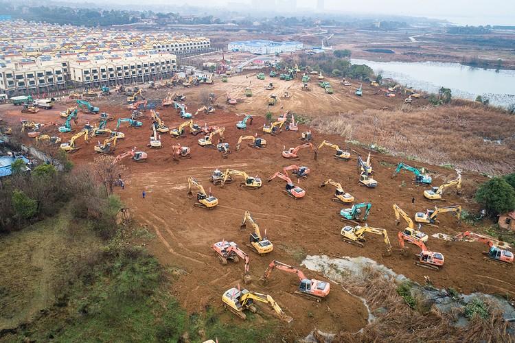 Китай строит огромную больницу за шесть дней