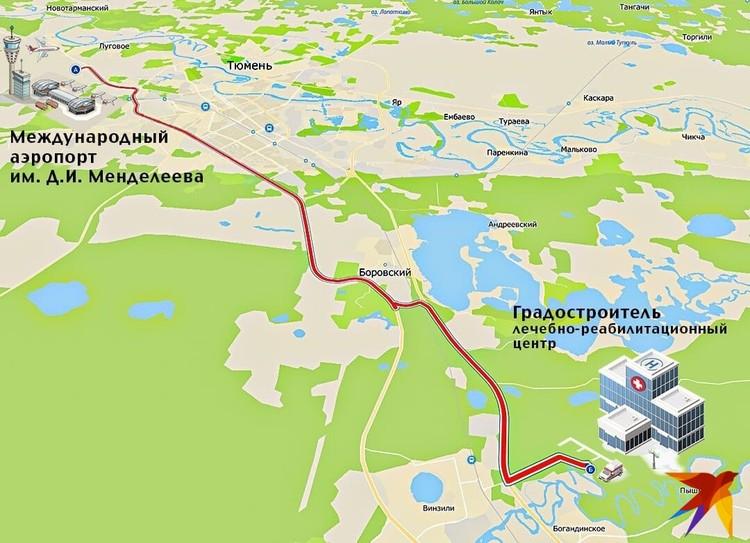 Фото: маршрут, по которому могут проехать эвакуированные. Фото: инфографика Николая Смотрова