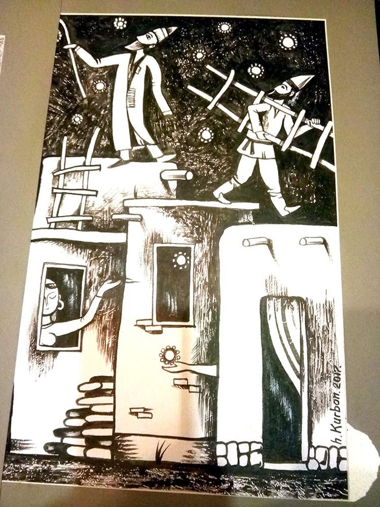 Хашим Курбан часто изображает дервишей на крыше, потому что считает их возвышенными людьми, которые ближе к Богу.