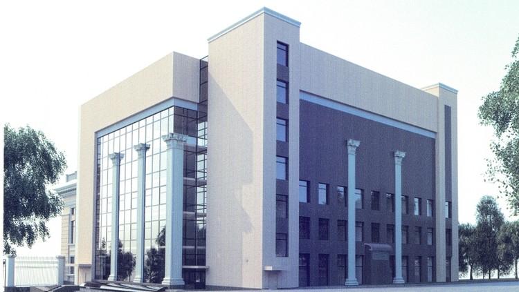Новый блок Национальной библиотеки. Эскиз.