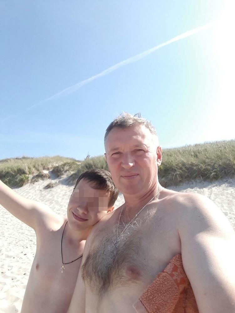Вадим Янголенко с сыном.