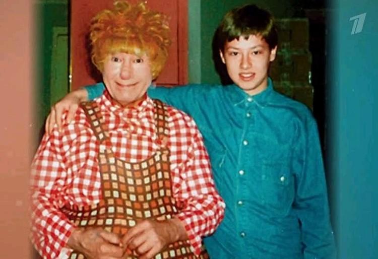 Тимур Еремеев с отцом - актером Спартаком Мишулиным.