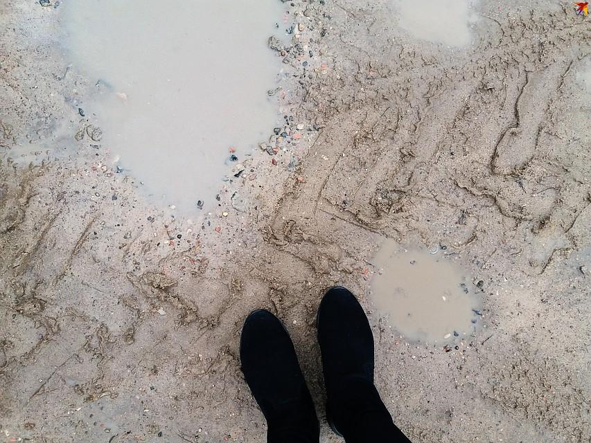 В сырую погоду под ногами все чавкает. Фото: Оксана БРОВАЧ