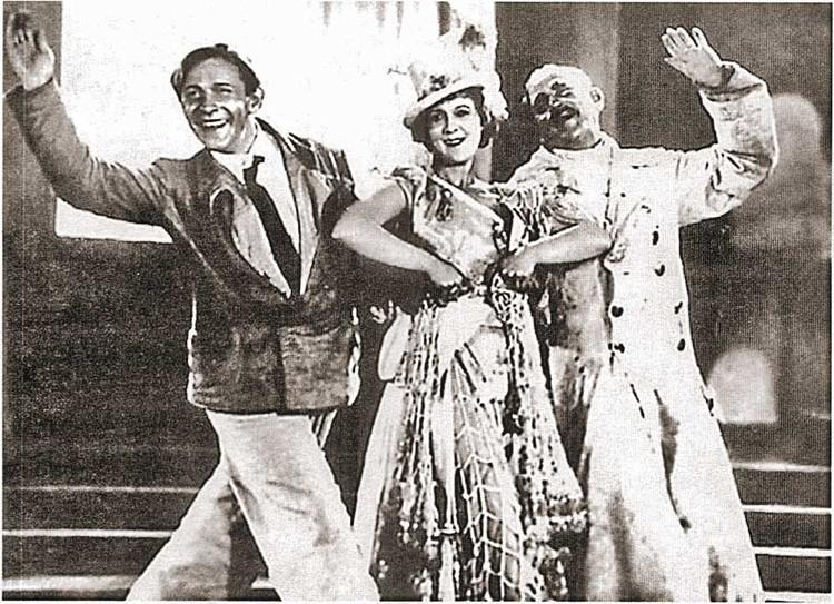 1934 год. «Веселые ребята» Леонид Утесов, Любовь Орлова и Федор Курихин. Фото: Кадр из фильма.