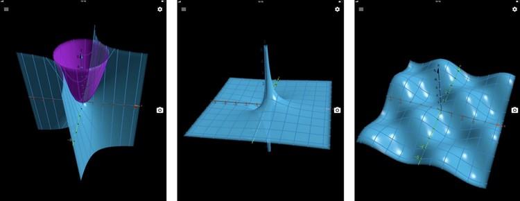 Для тех, кто не силен в геометрии приложение может визуализировать формулы в трехмерные графики и геометрические фигуры. Фото: предоставлено компанией Apple