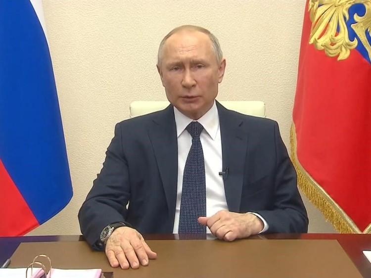Президент России Владимир Путин обратился к гражданам