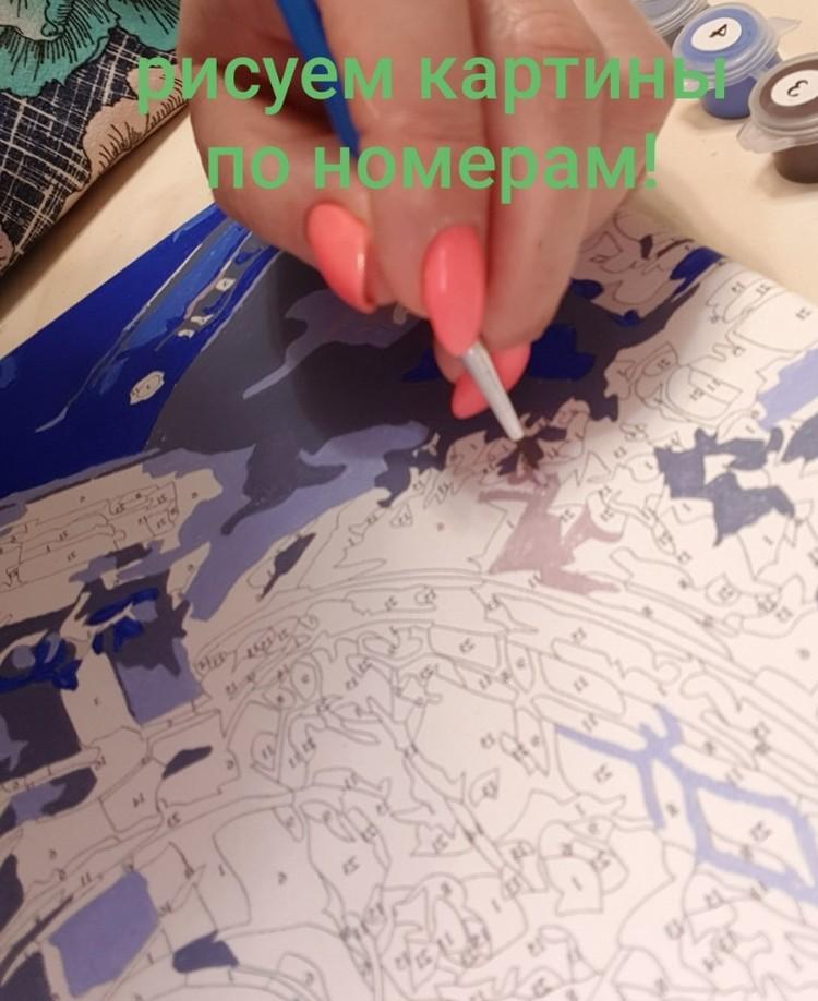 Ирина пишет картины по номерам. Фото Ирины Симоновой