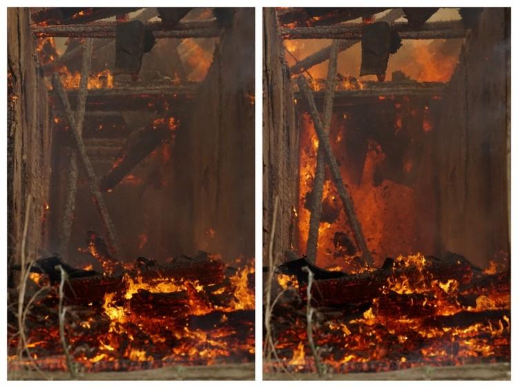 В продуваемом помещении без окон и дверей пламя распространялось очень быстро.