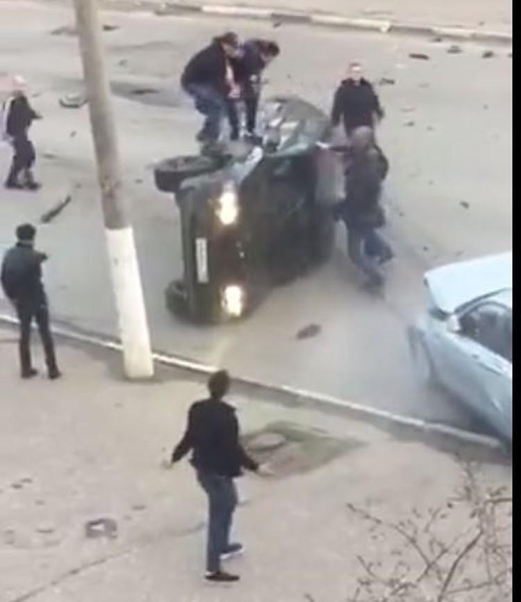 """Кадр из видео из группы """"Подслушано автомобилистов Владимир"""""""