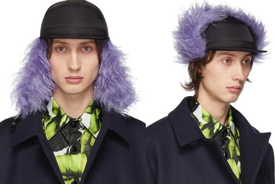 Дизайнеры Prada в дополнение к шапке-ушанке придумали кепку-ушанку