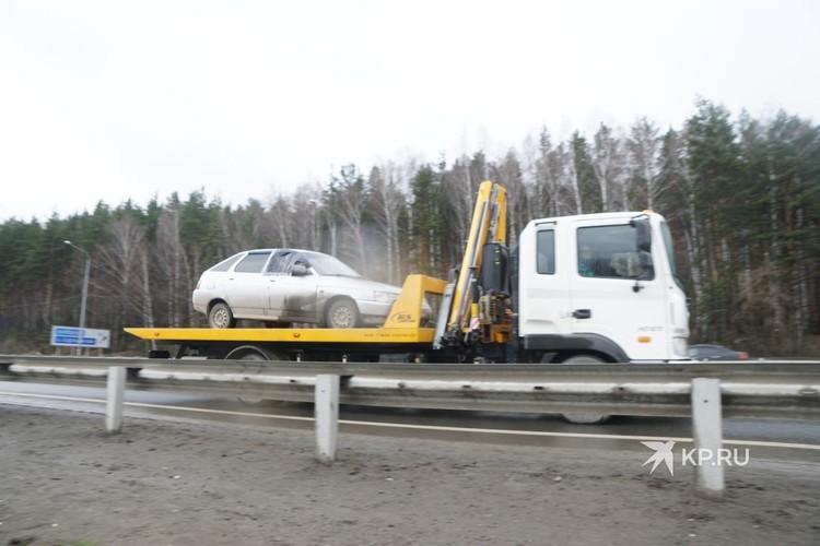 Предположительно на данном автомобиле передвигались трое террористов.