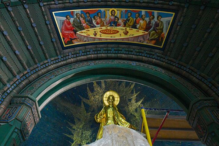 Храм получился красивым и величественным. Фото: сайт Минобороны РФ.
