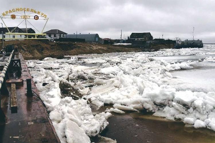 """В Красноселькуп лед пришел в начале мая. Фото из группы «ЧП Ямал» """"ВКонтакте"""""""