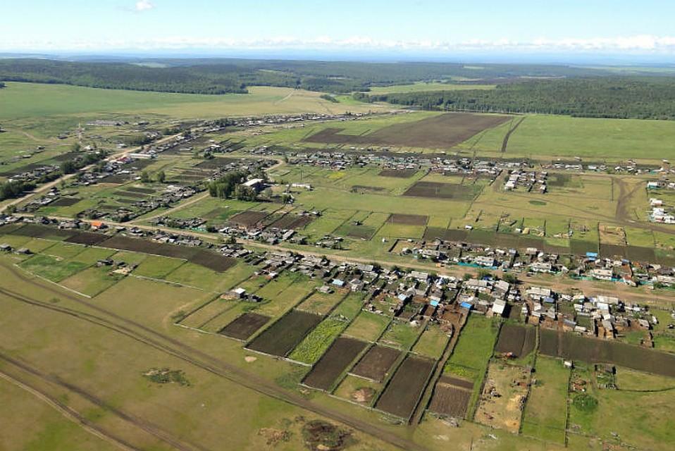 Село Идеал с высоты птичьего полета. Фото: сайт администрации Куйтинского сельского поселения.